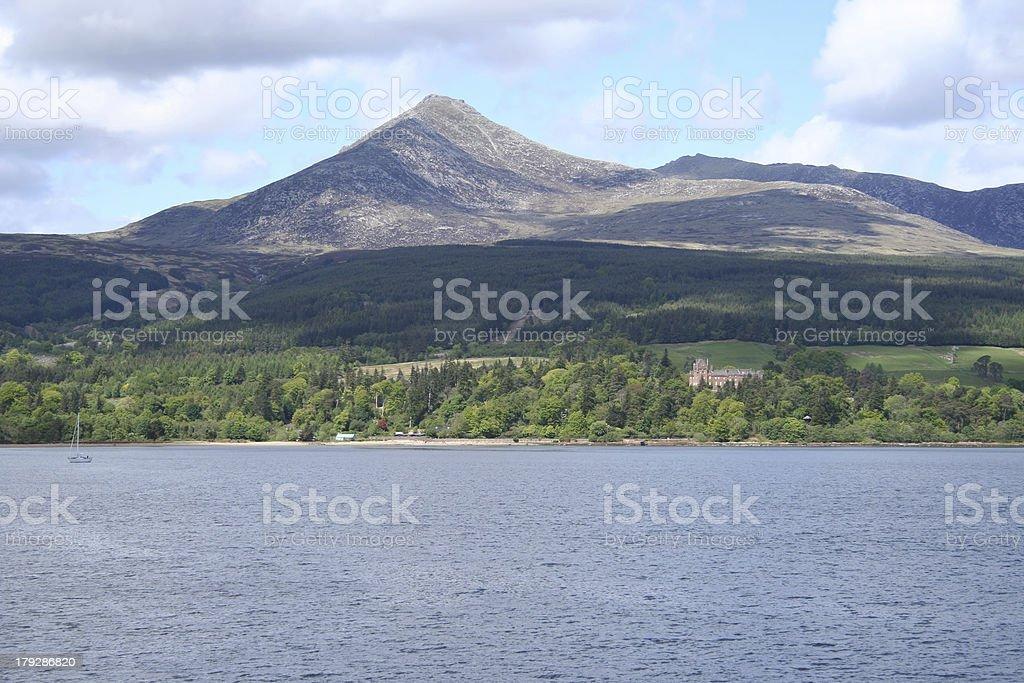 coast of Arran Scotland stock photo