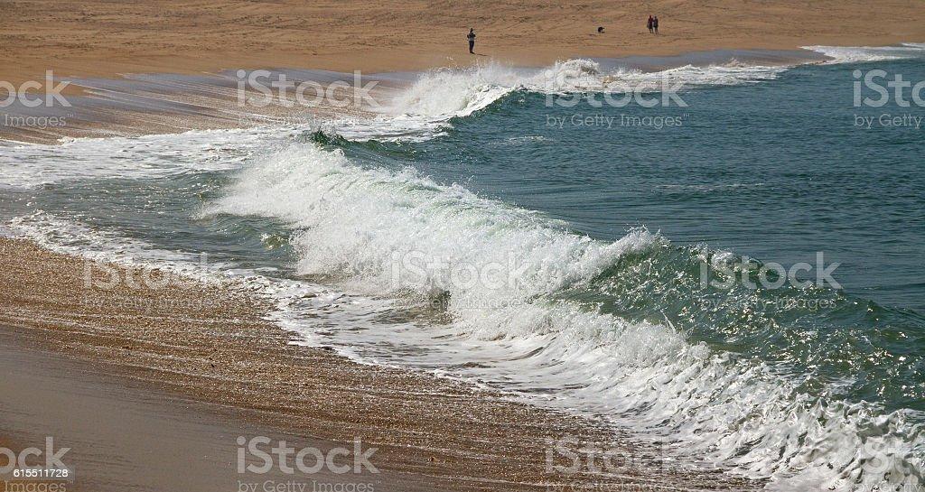 Coast of Atlantic ocean. stock photo