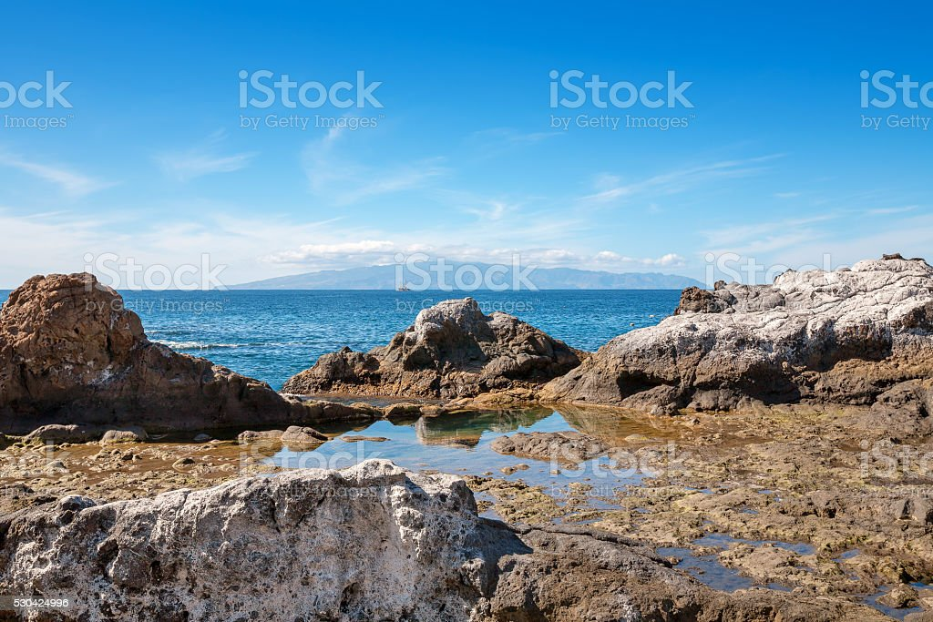 Coast of Atlantic Ocean. Tenerife, Canary Islands, Spain stock photo