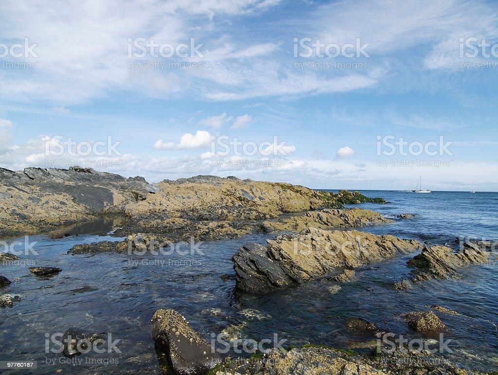 coast of Bangor in Northen Ireland stock photo