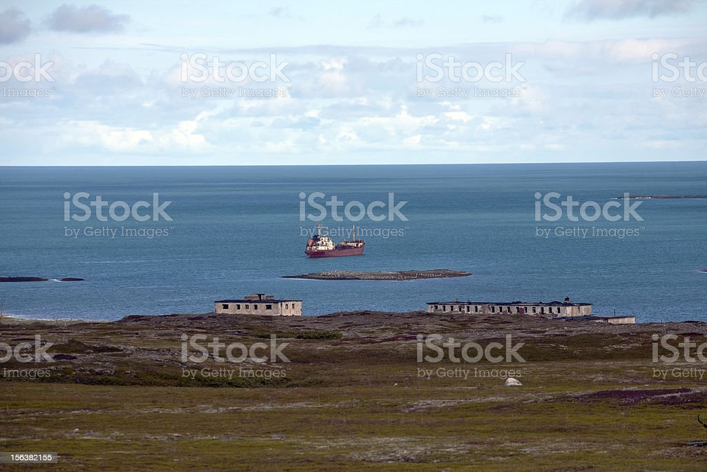 coast of Barents Sea royalty-free stock photo