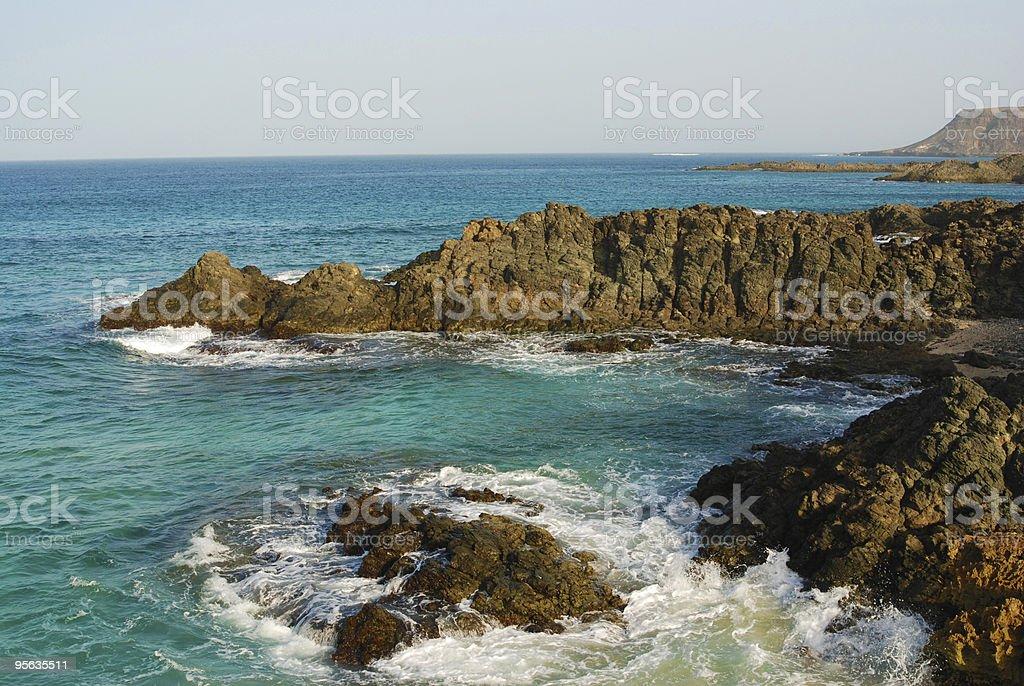 Coast of Capo Verde stock photo