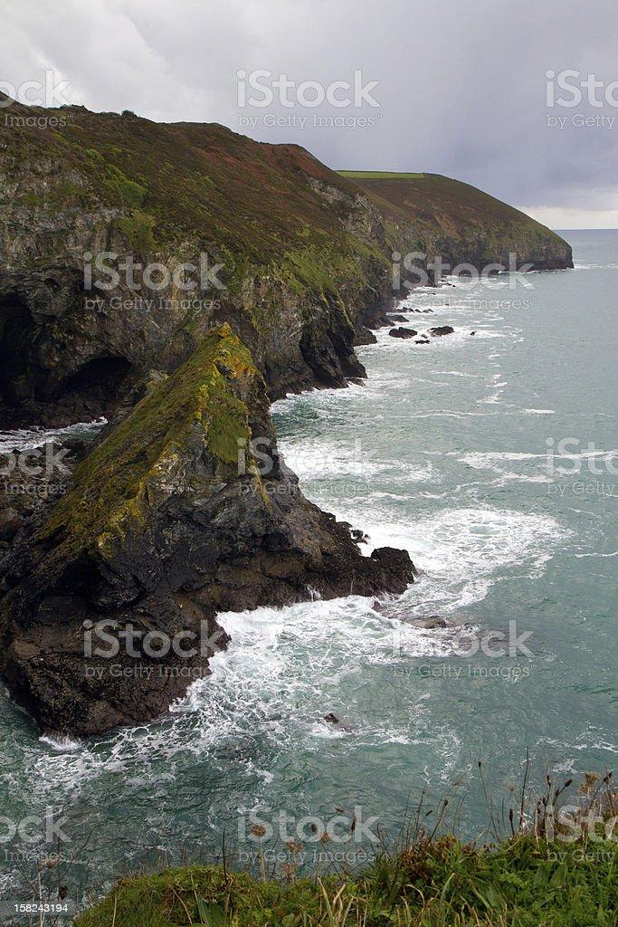 Coast of Cornwall England in autumn near St Agnes royalty-free stock photo