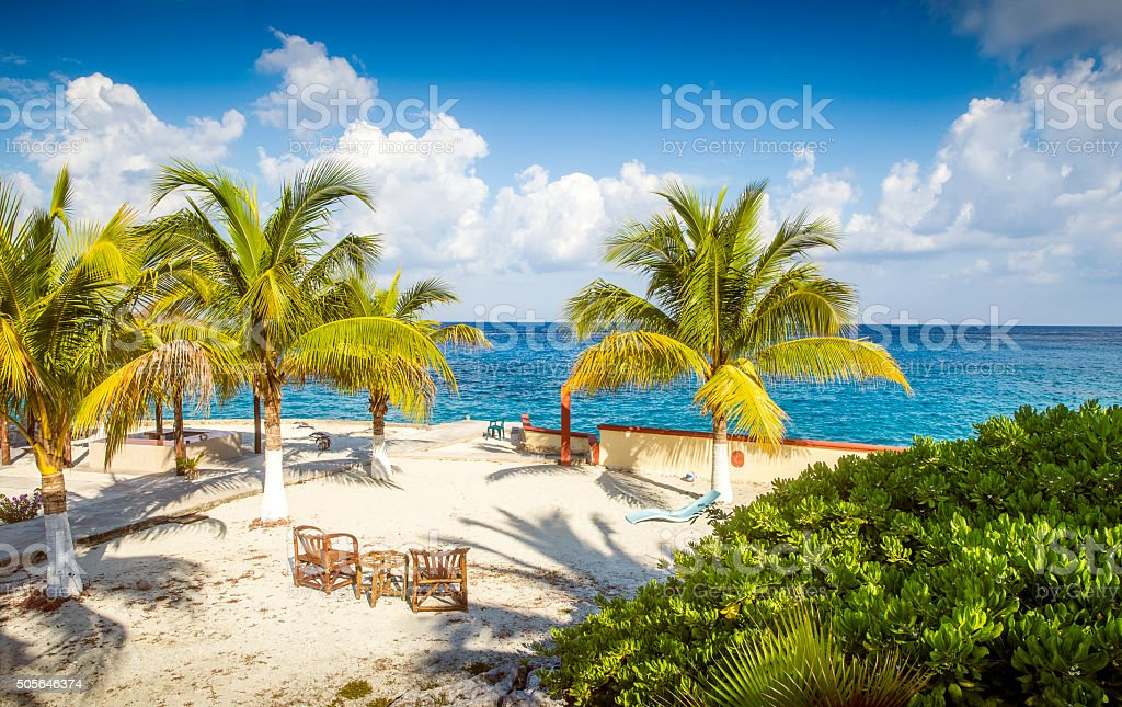 Coast of Cozumel island, Mexico stock photo