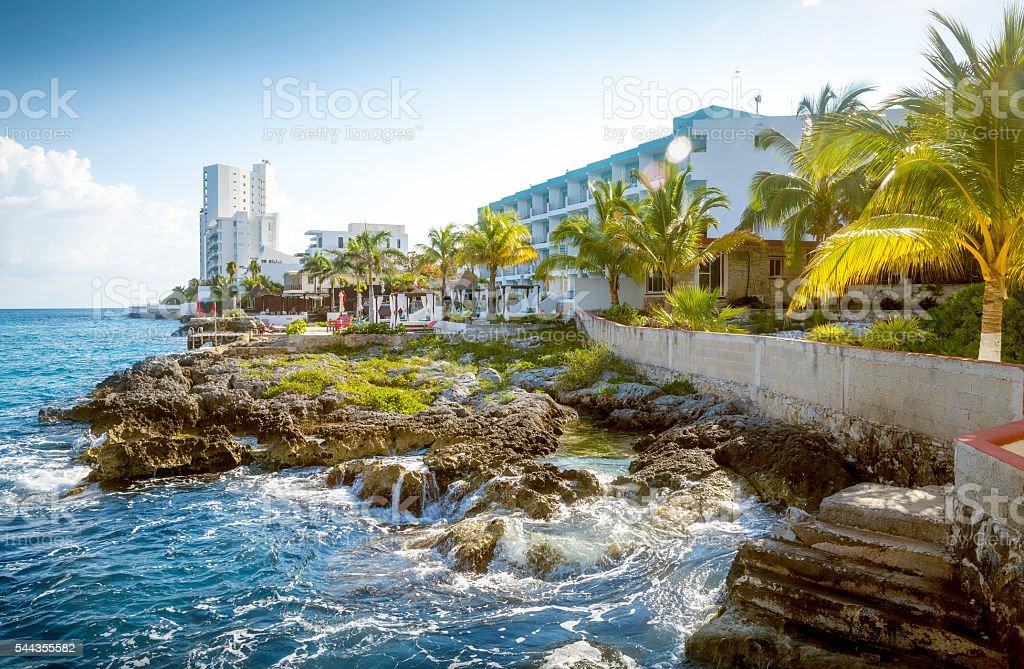 Coast of Cozumel Island, Quintana Roo, Mexico stock photo