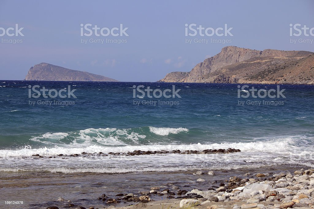 Coast of Crete Island royalty-free stock photo