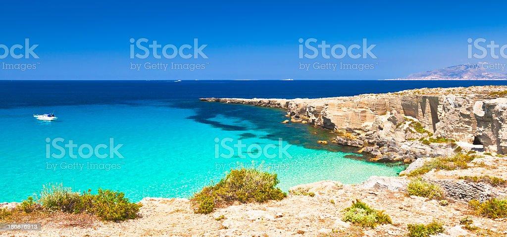 Coast of Favignana royalty-free stock photo