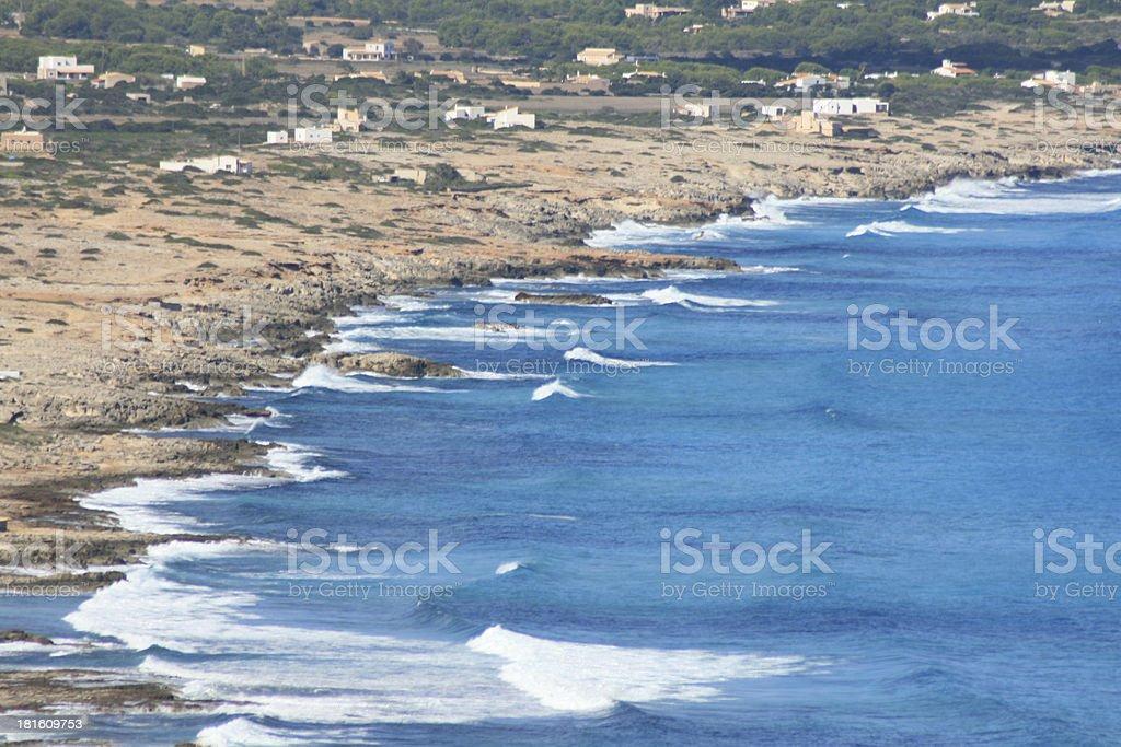coast of Formentera Spain royalty-free stock photo