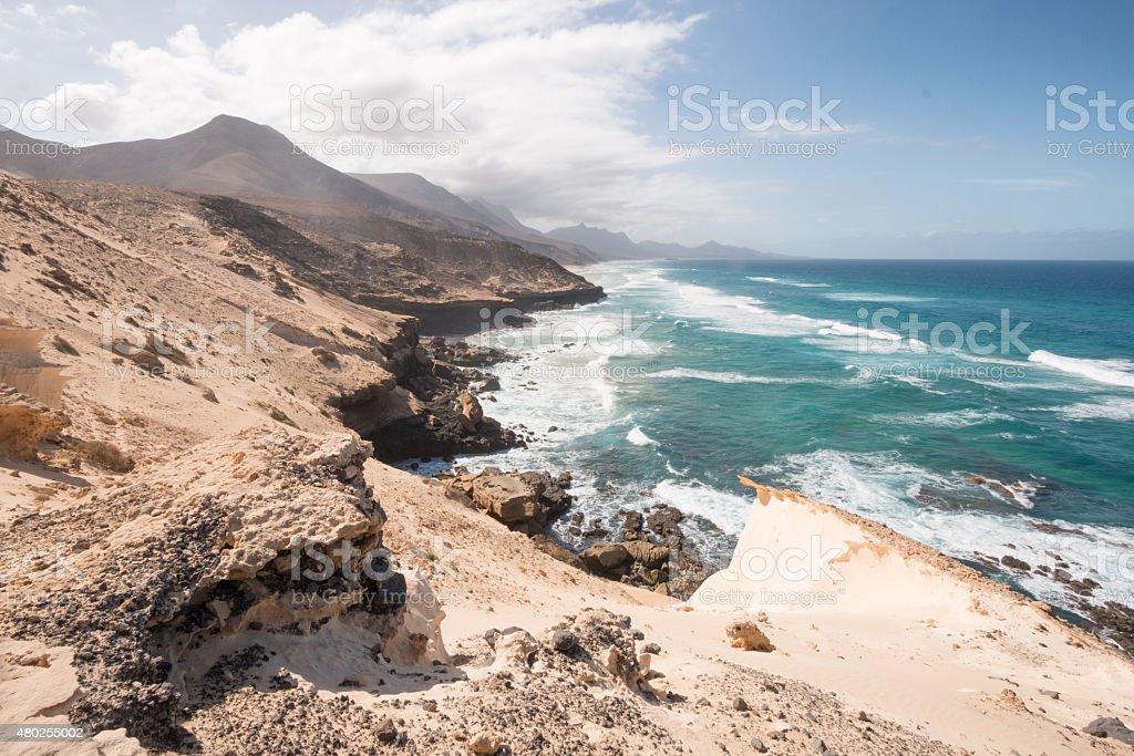 Coast of Fuerteventura royalty-free stock photo