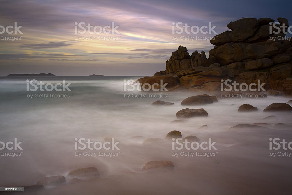 Cote de Granite Rose at Perros-Guirec stock photo