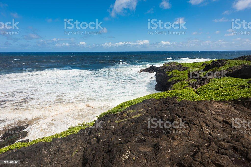 Coast of Hana, Maui, Hawaii stock photo