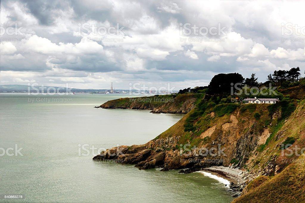 Coast of Howth island, ( Dublin ) Ireland stock photo