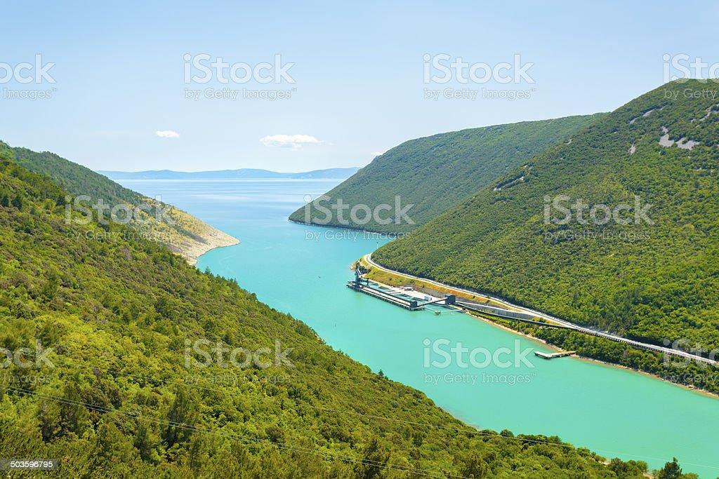 Coast of Istria, Croatia stock photo
