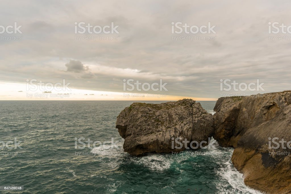 Coast of Llanes (Asturias, Spain). stock photo