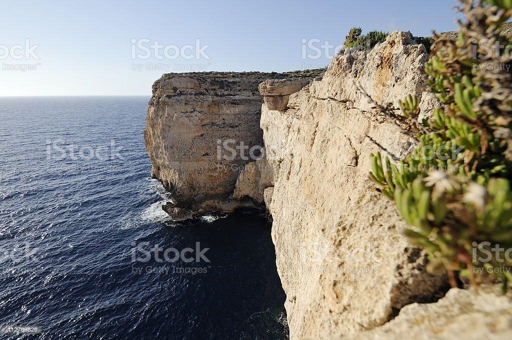 Coast of Malta stock photo