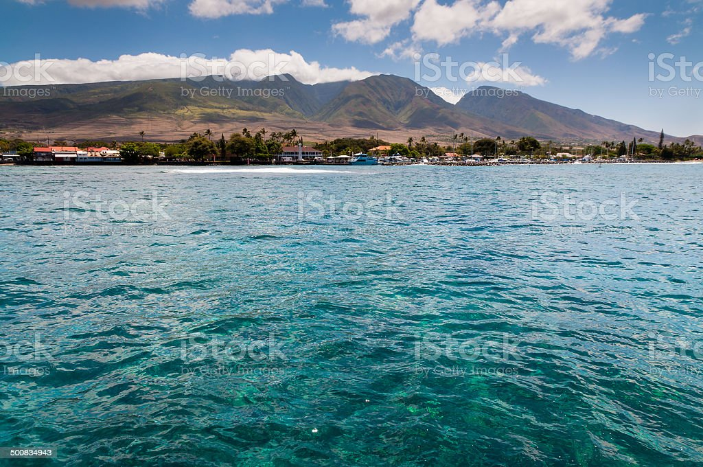 Coast of Maui stock photo