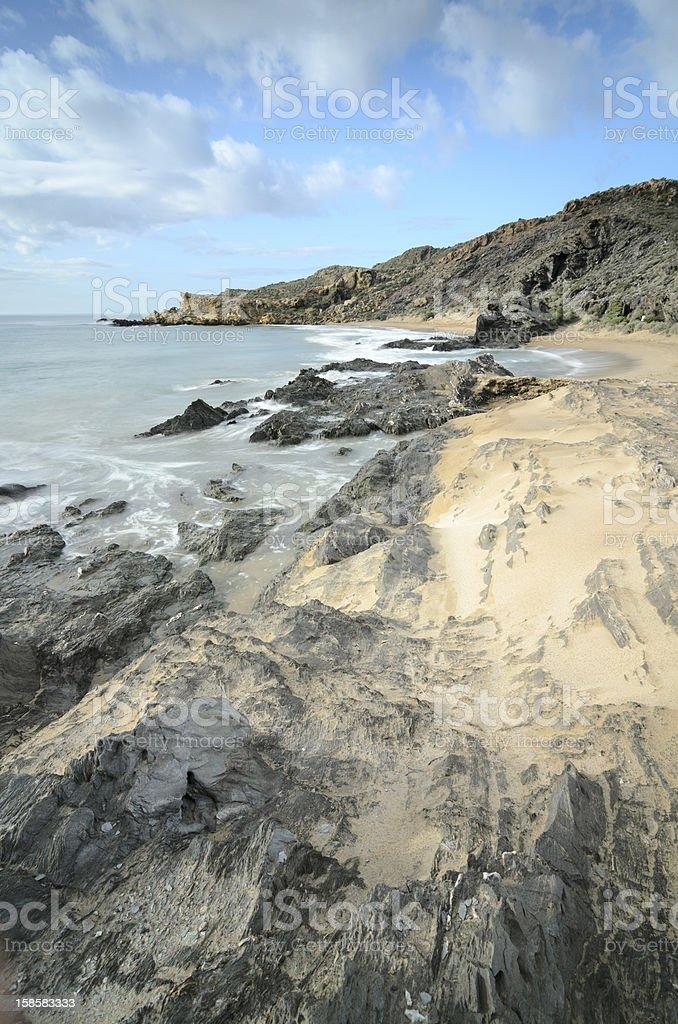 Coast of Mazarron, Spain stock photo