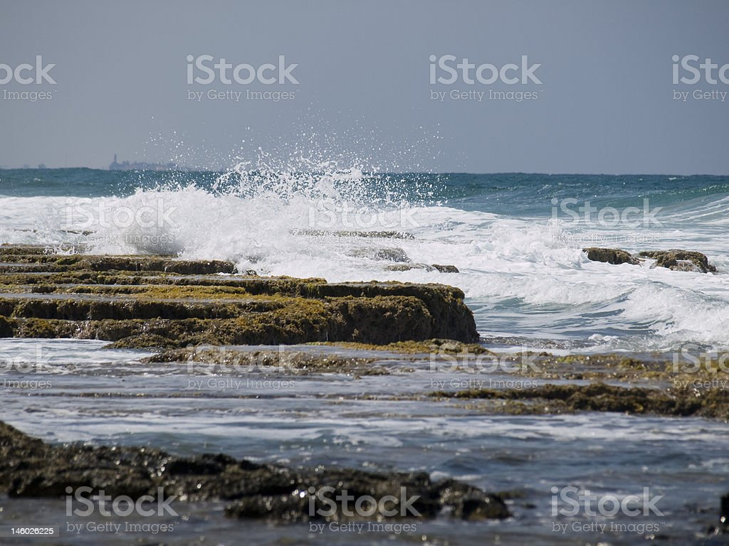 coast of Mediterranean Sea stock photo