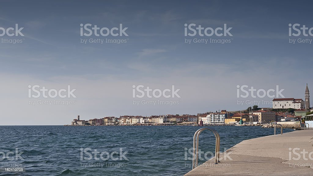 Coast of Piran stock photo