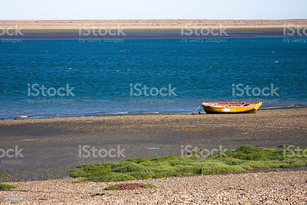 Coast of 'Puerto San Julián' royalty-free stock photo