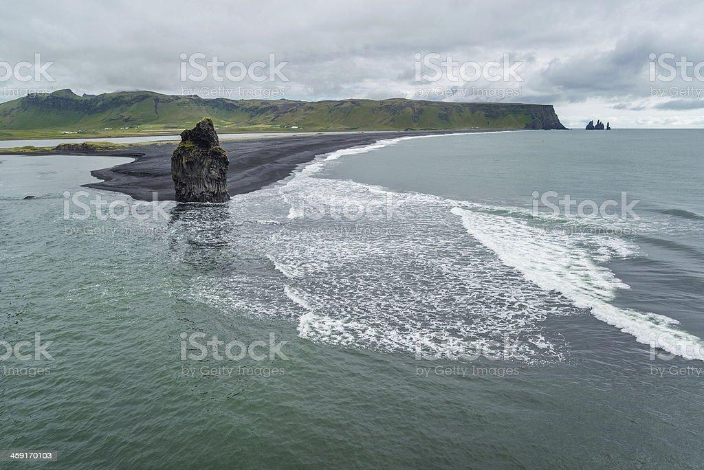 Coast of Reynisfjara stock photo