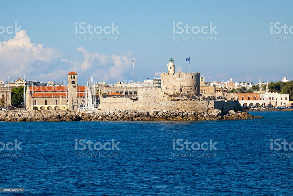 Coast of Rhodes Greece stock photo