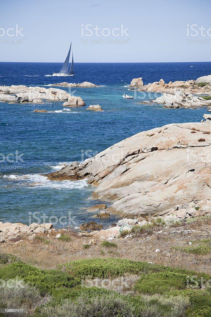 Coast of Sardinia royalty-free stock photo