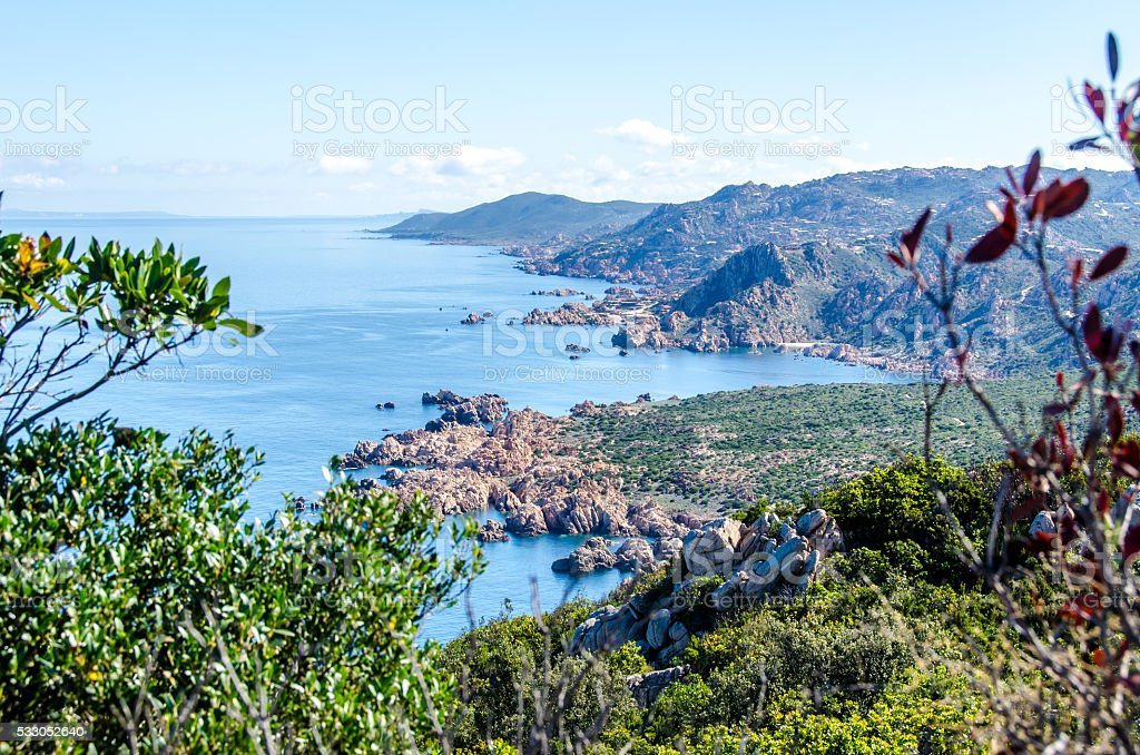 Coast of Sardinia - Vacation in Italy stock photo