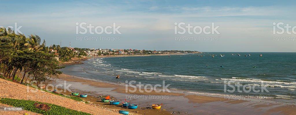Coast of sea in Mui Ne, Vietnam stock photo