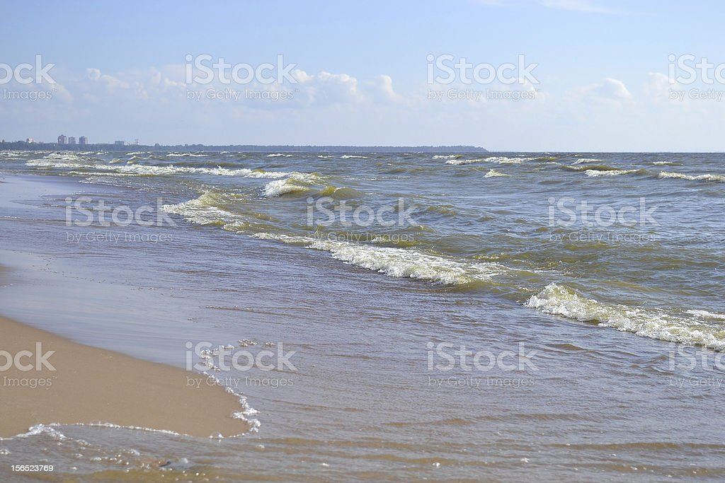 Coast of sea royalty-free stock photo