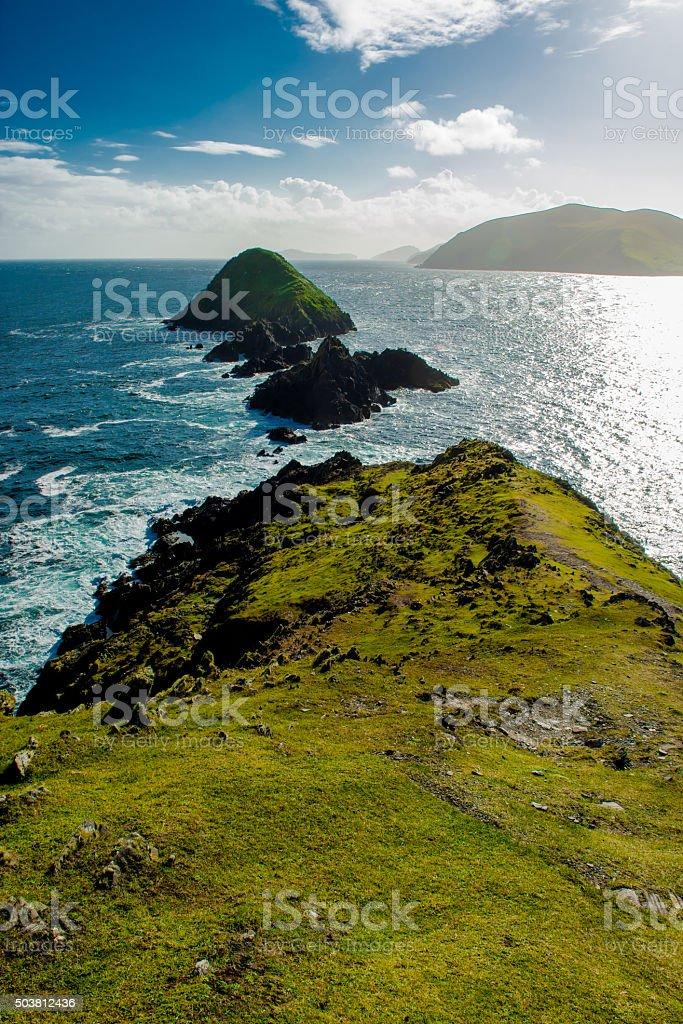 Coast Of Slea Head in Kerry In Ireland stock photo