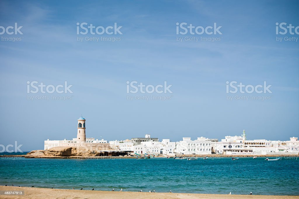 Coast of Sur Oman stock photo