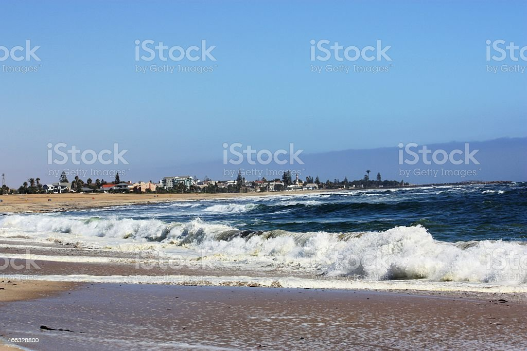 Coast of Swakopmund in Namibia stock photo