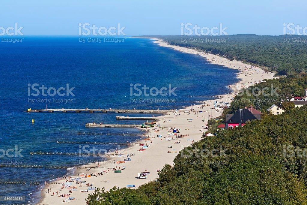 Coast of the Baltic Sea, Poland stock photo