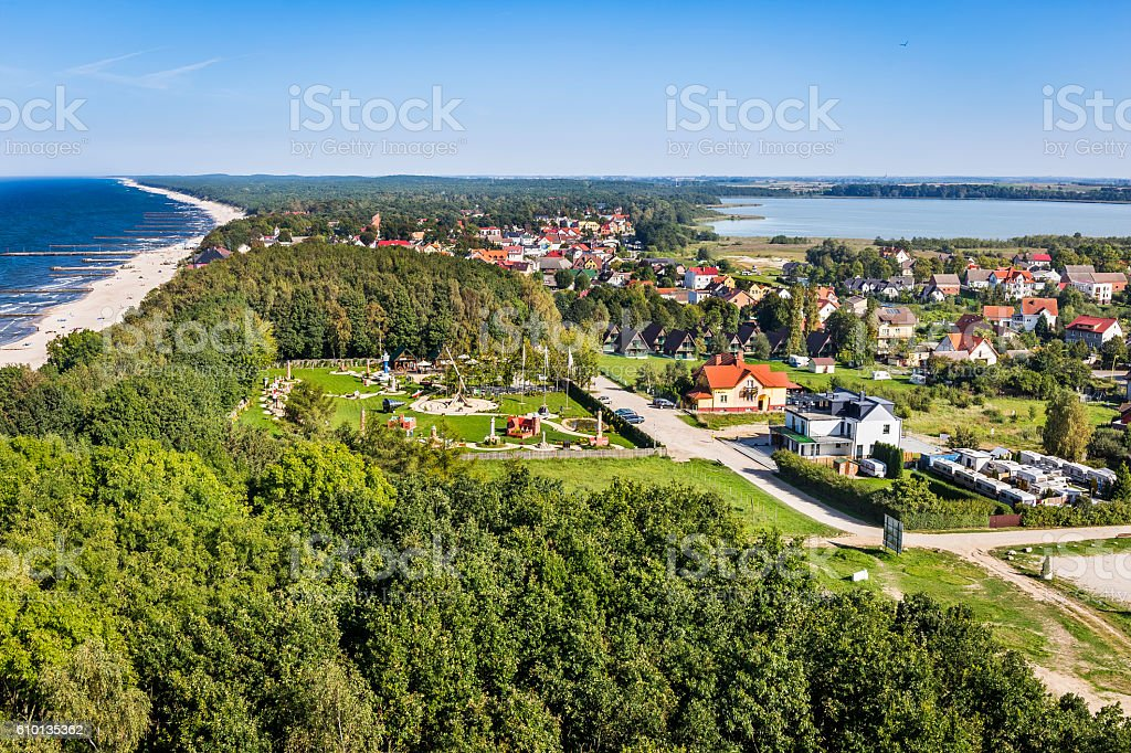 Coast of the Baltic Sea, Rewal, Poland stock photo