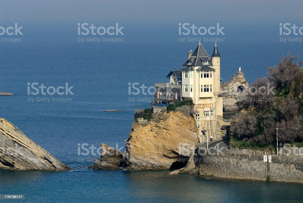 Cote des Basques stock photo