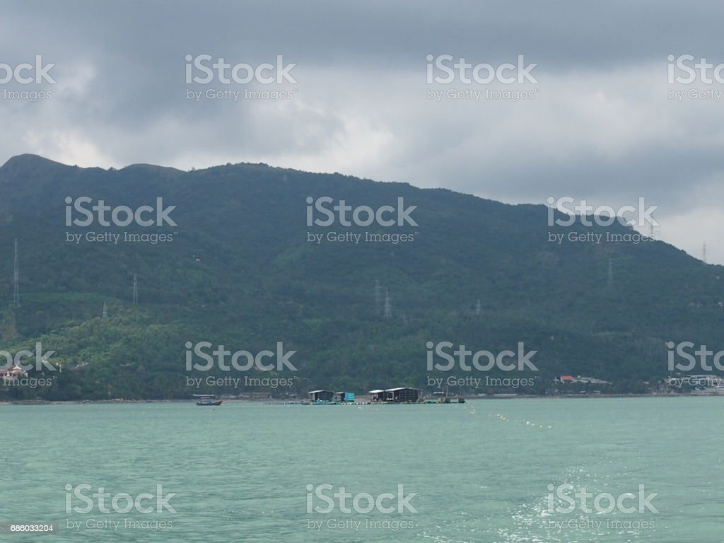 Coast of the Pacific Ocean stock photo