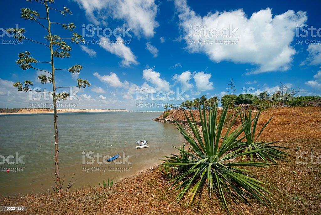 coast of Tibau do Sul near pipa brazil stock photo