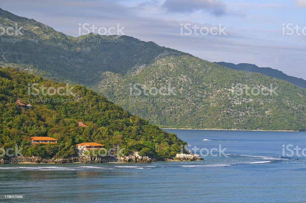 coast of tropical haiti stock photo
