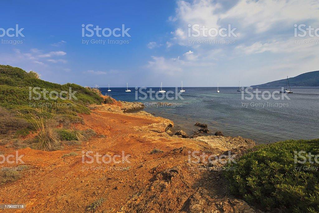 coast on Elba Island royalty-free stock photo