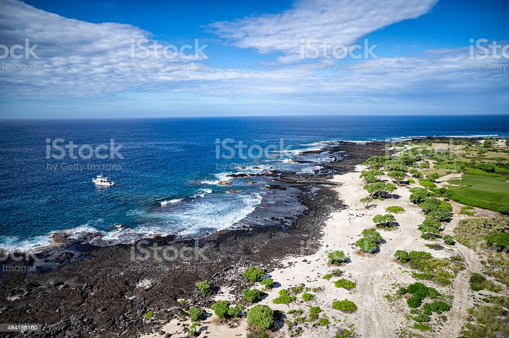 Coast on the Big island stock photo