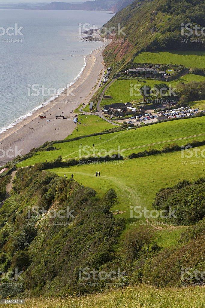 Coast Path Branscombe Devon royalty-free stock photo