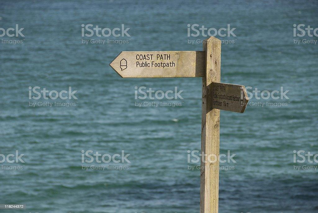 Coast Path sign post royalty-free stock photo