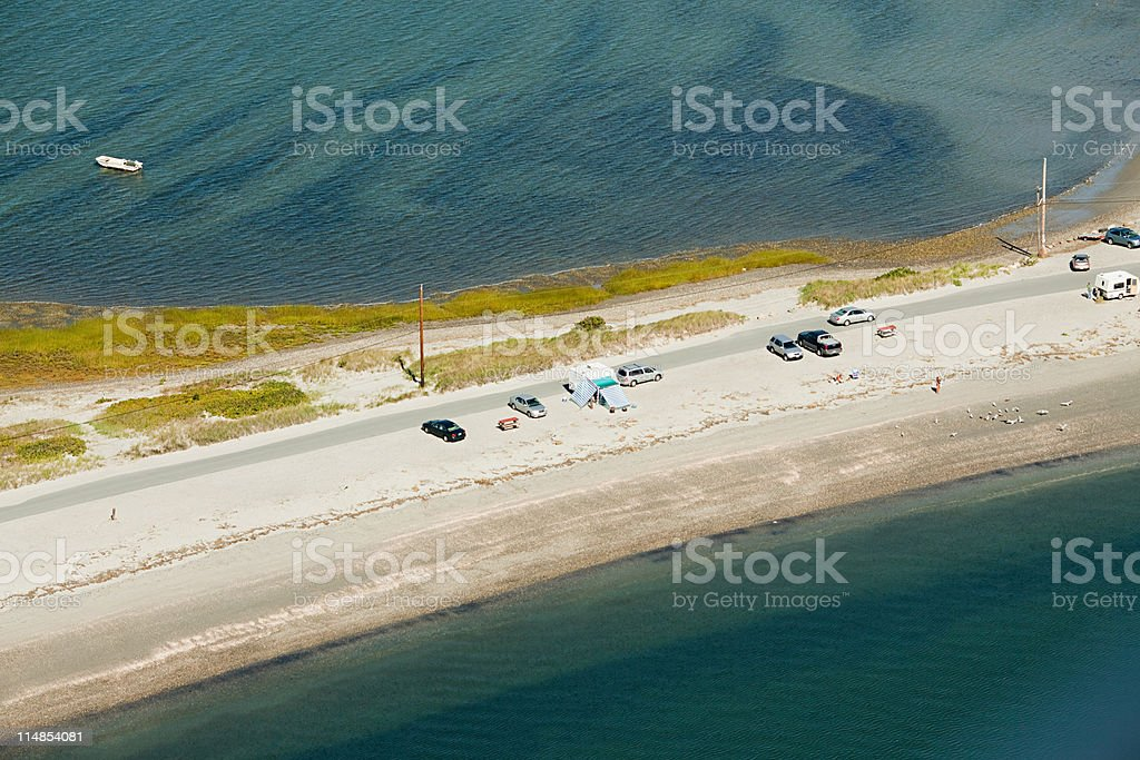 Coast road, Newport County, Rhode Island, USA stock photo