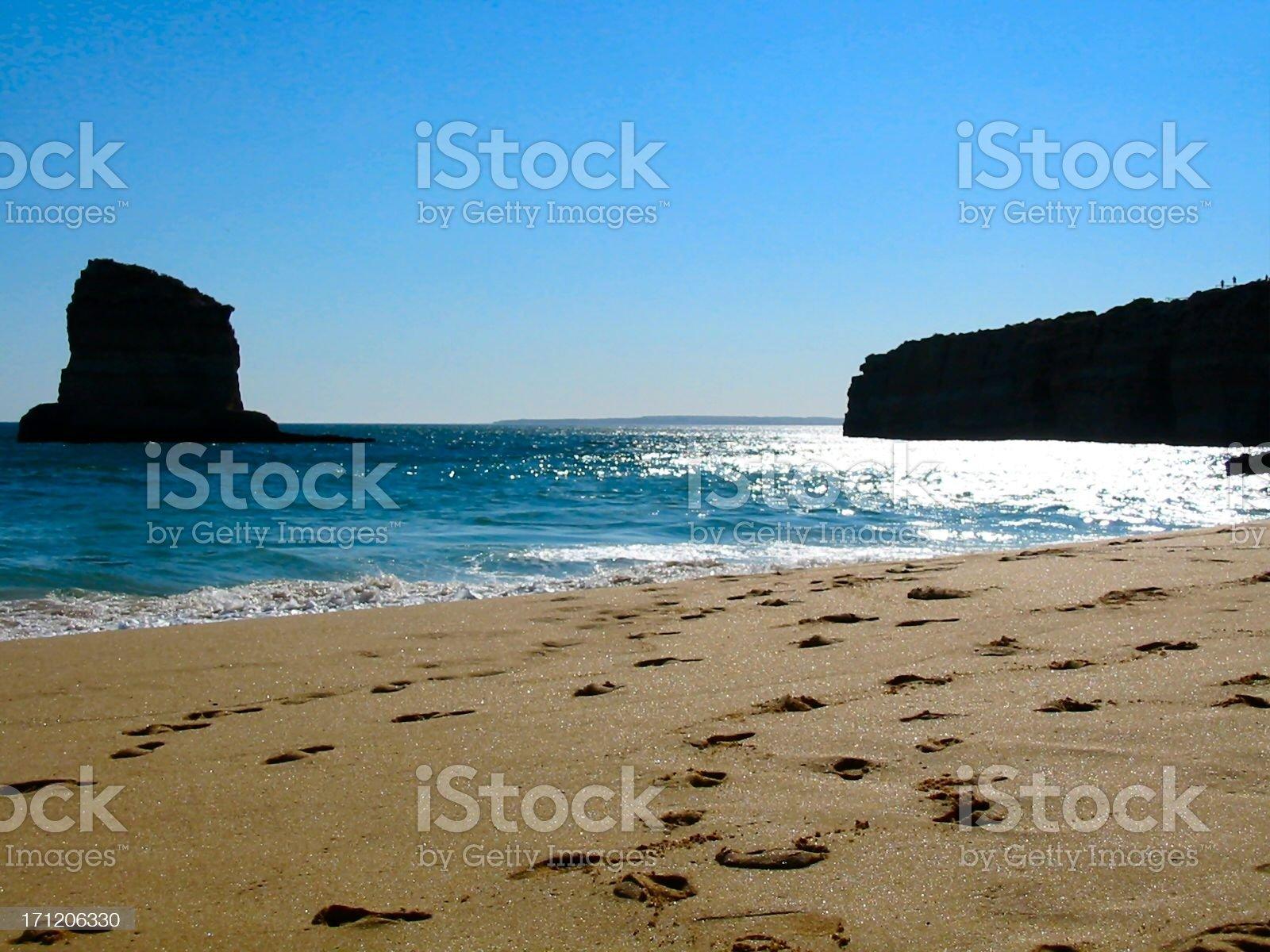 Coast scene on sunset royalty-free stock photo