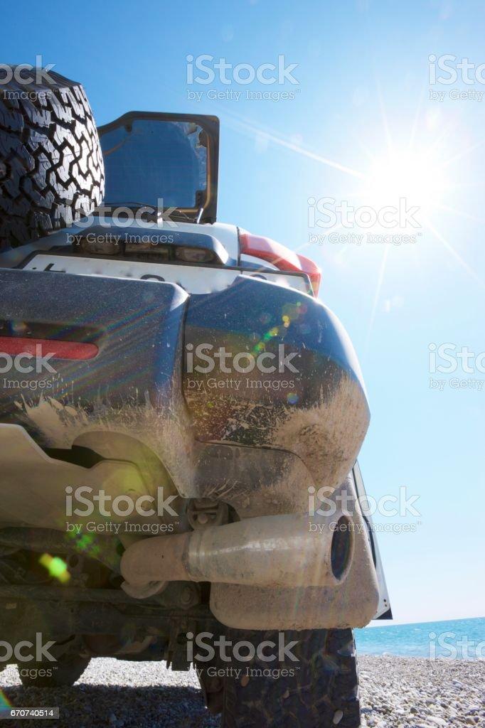 Coast sun car stock photo