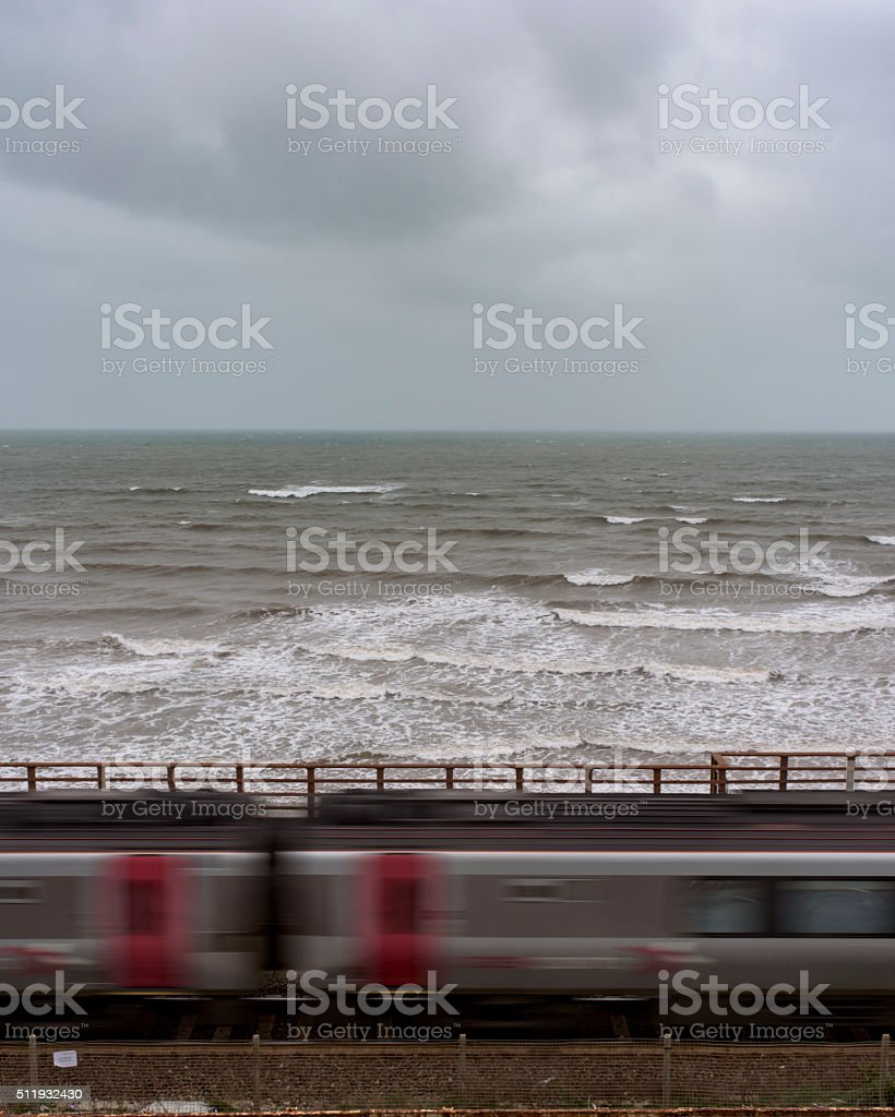 Coast train stock photo