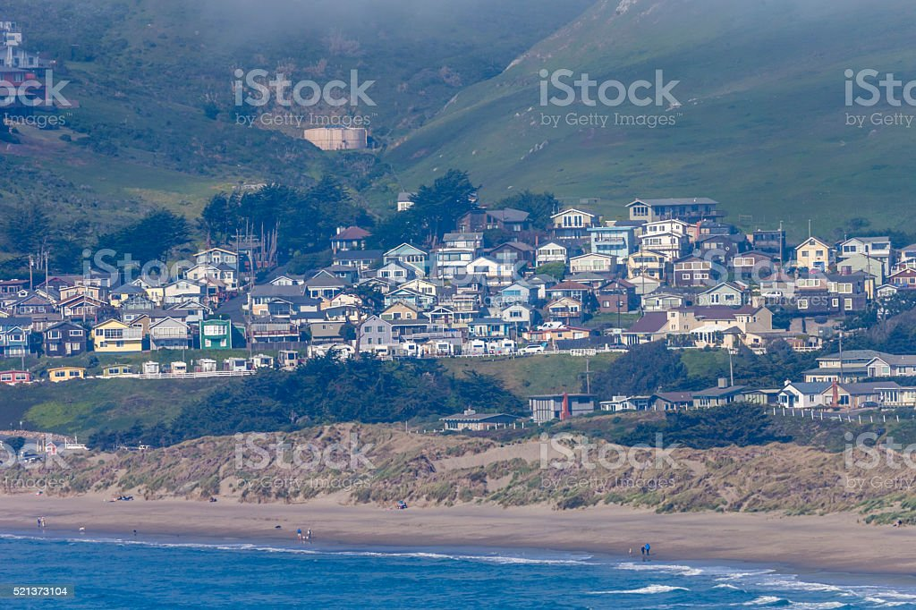 Coast View from Tomales Point of Point Reyes National Seashore stock photo
