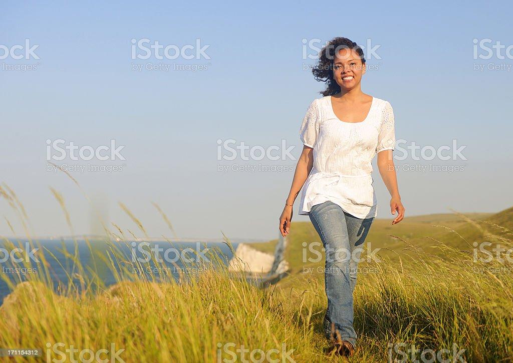 UK Coast walk on a Summer day royalty-free stock photo