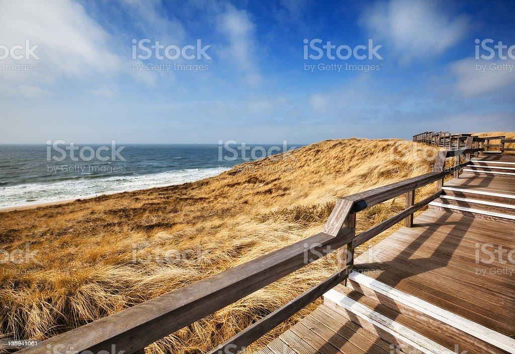 Coast Walking Path stock photo